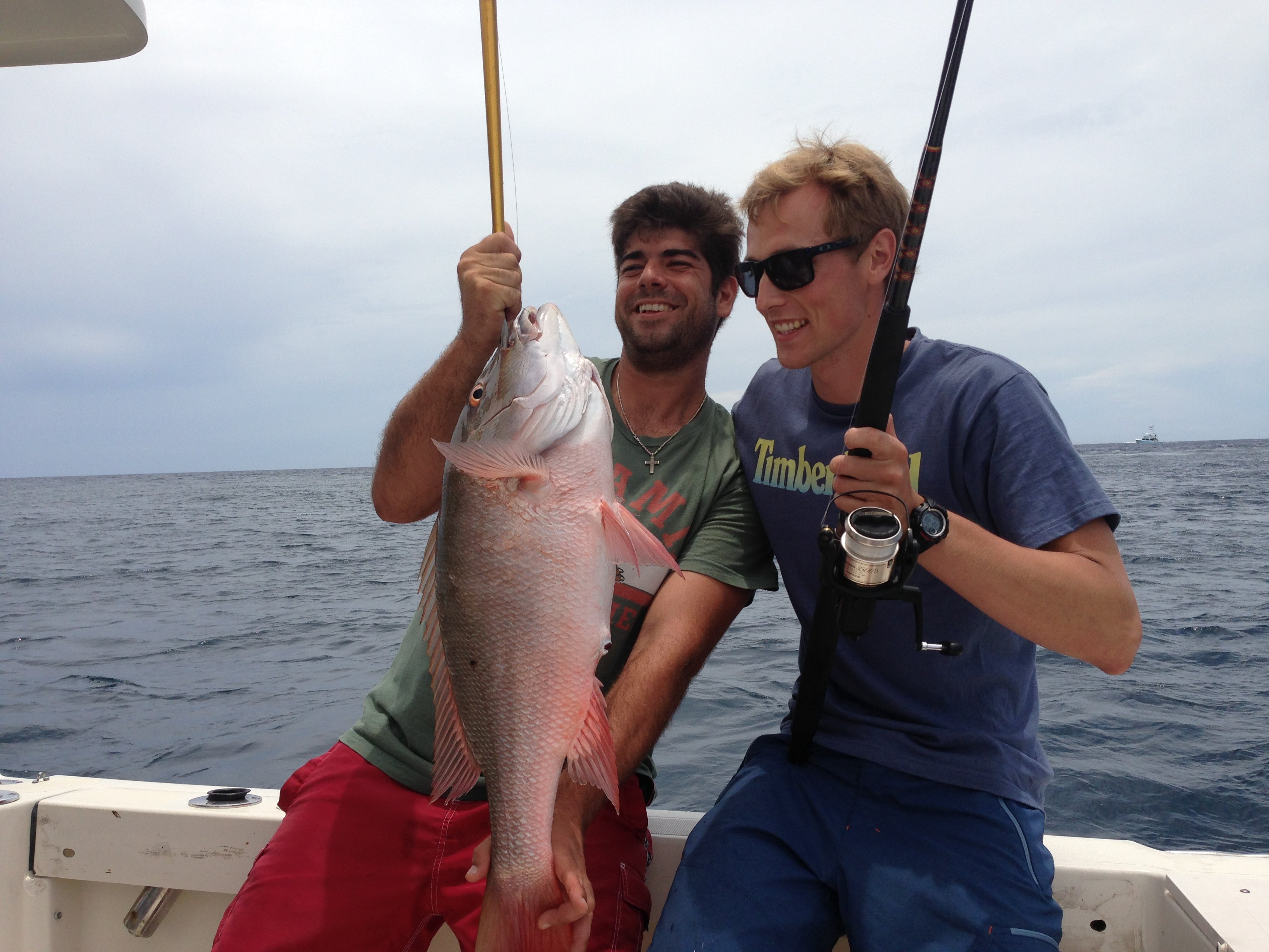 30 inch mutton blue pursuit gets record size on board for Miami beach fishing charters
